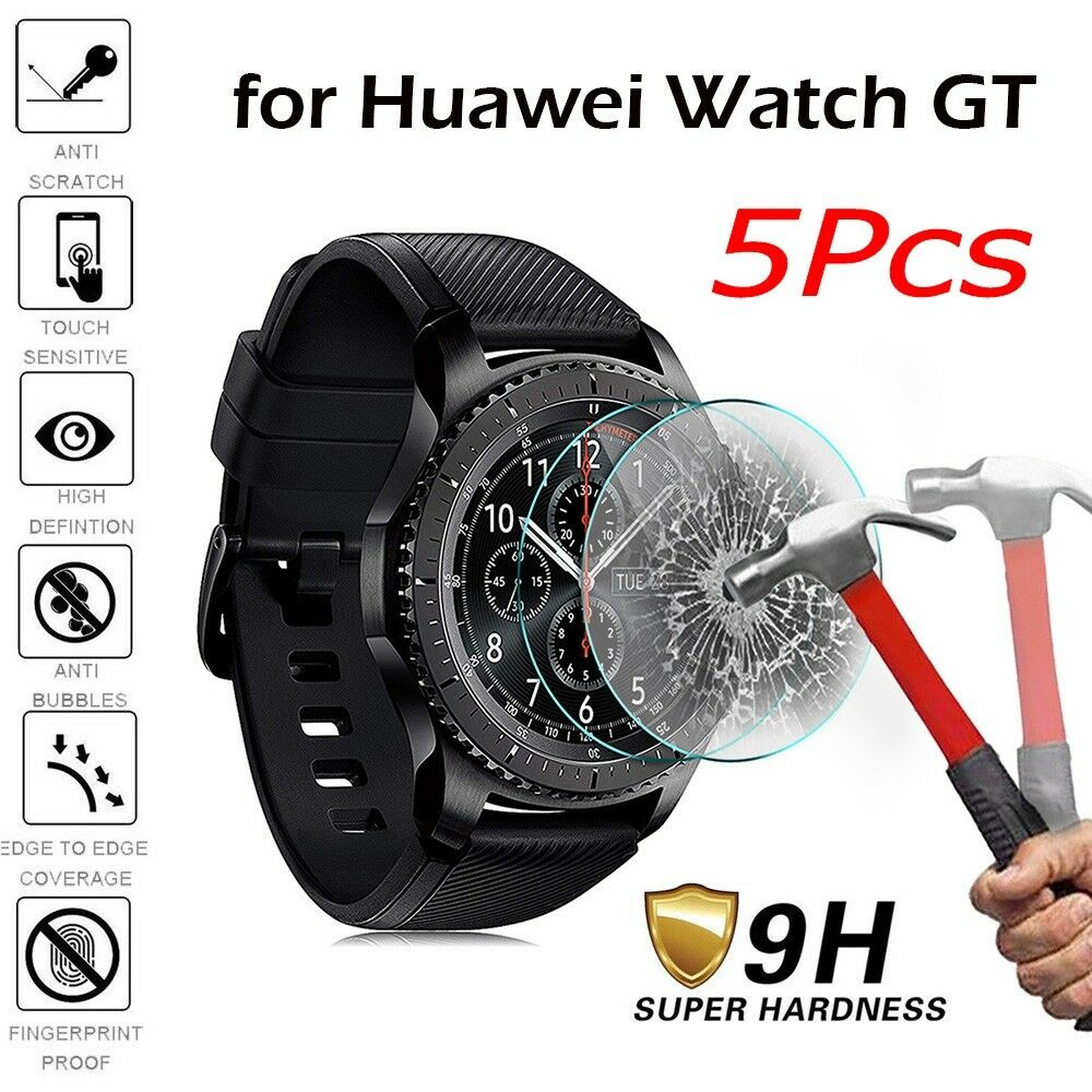 1440ae5be Details about 9H Tempered Glass Screen Protector Film For Huawei Watch GT  Smartwatch AU
