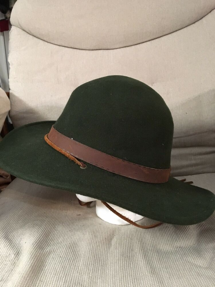 Details about Brixton Deadwood Fedora Hat Sz Medium Forest Green Must Have  Rule The School! 64d01eb901d