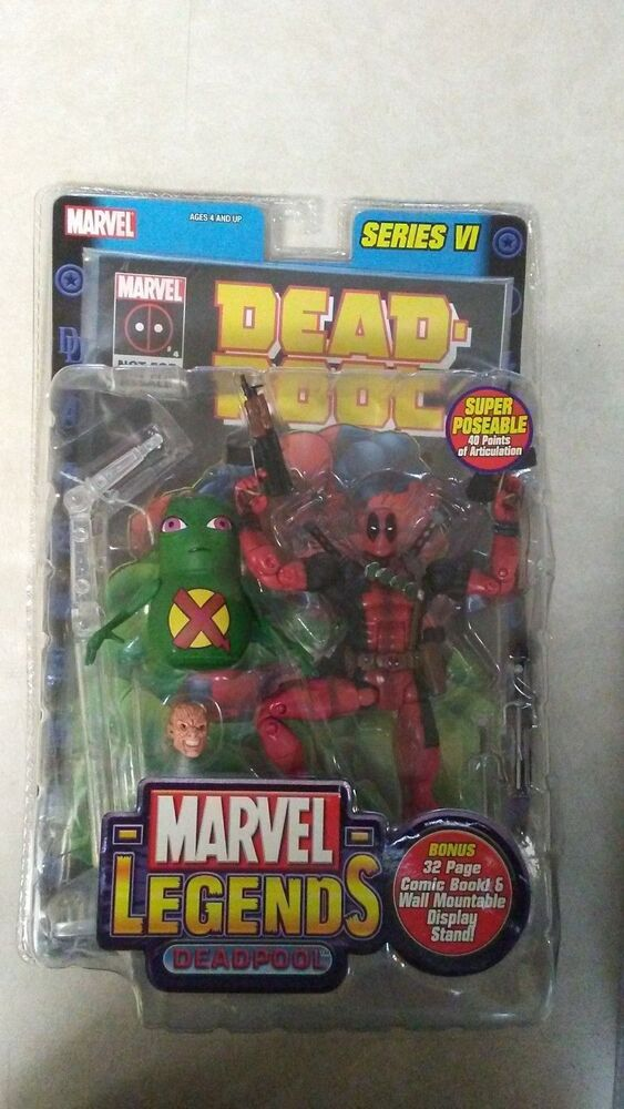 "Toy Biz Marvel Legends Series VI Deadpool /& Dool 6/"" Action Figure Loose Rare"