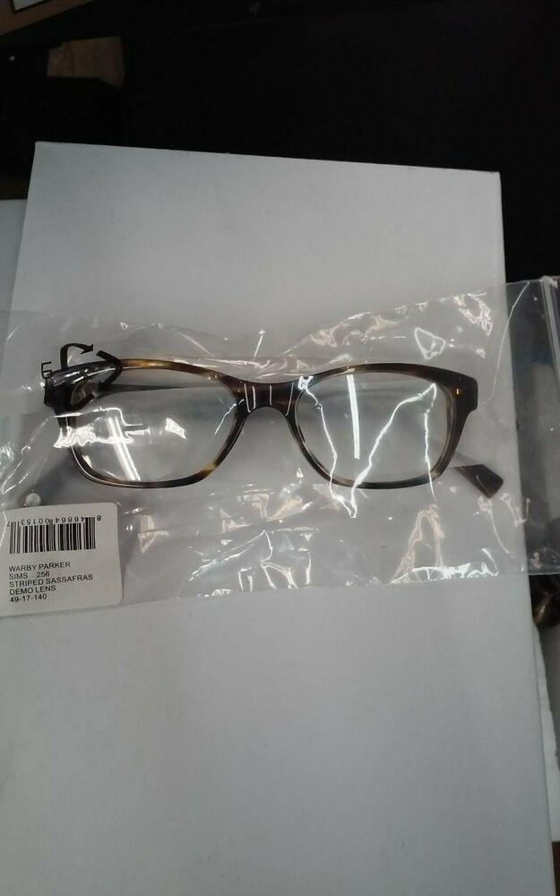 ea9dac2581 Warby Parker Sims 256 Eyeglass Frames Striped Sassafras 49-17-140 New  846864001537