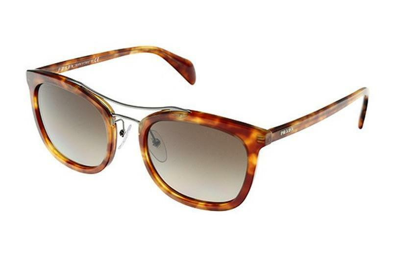 961f589fa06c Details about Authentic New Prada Sunglasses PR 17QS 4BW 1X1 Havana Brown  52mm