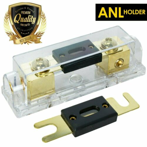 0 / 2 / 4 Gauge Inline ANL Fuse Holder Gold Series + 250A Fuse X Audio XANL250P