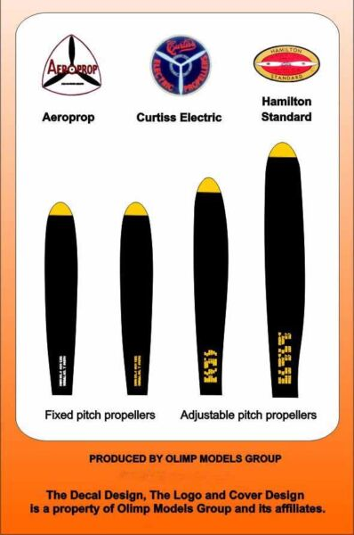 Authentic Decals 1/72 US Propeller Manufacturer Logo's Stenciling (3 Types) # 72