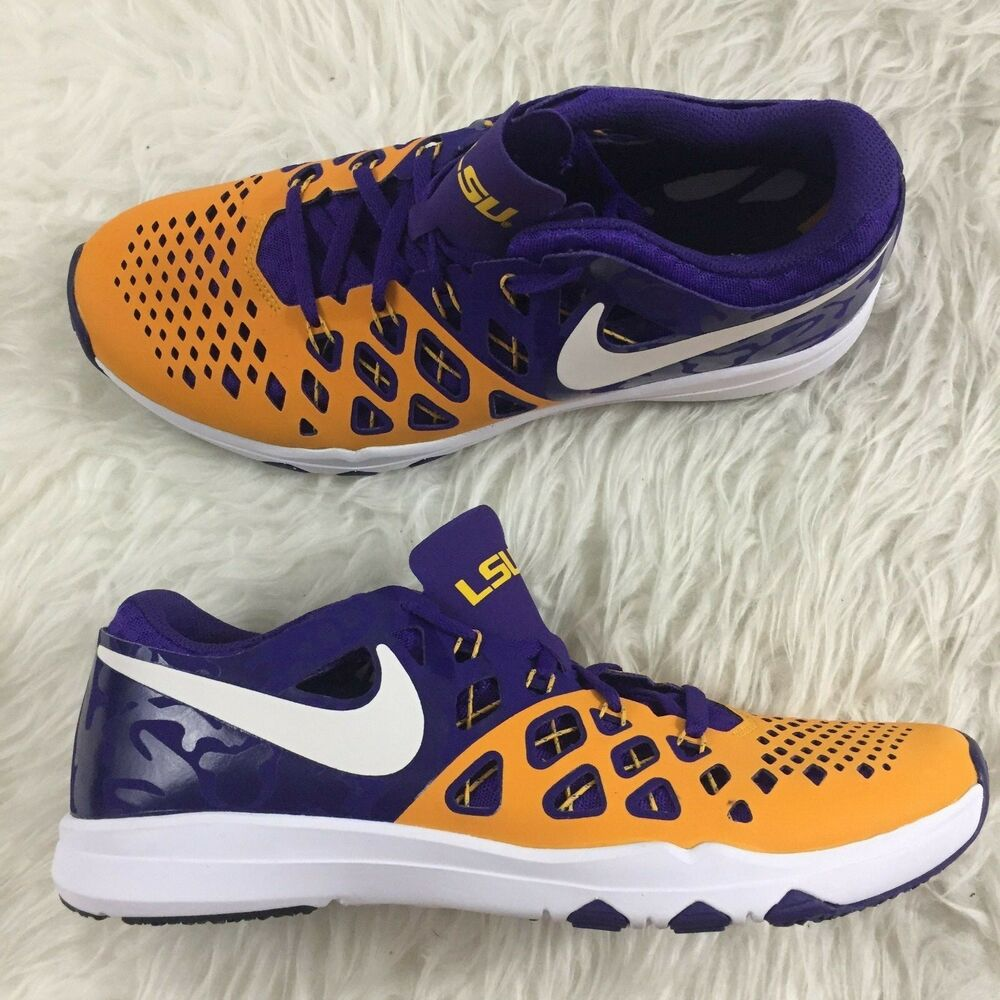 super popular 38a41 3d422 Details about Nike Train Speed 4 AMP LSU Tigers Men s Multiple Sizes  Training Shoes 844102 711