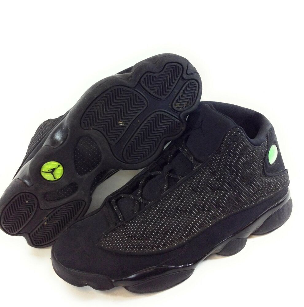 finest selection ac2ed 361b3 Details about Pre-owned Mens Nike Air Jordan Retro 13 Black Cat Sneakers  414571 011 Size 11.5