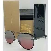 79bef59e7bc8 NEW Burberry Aviator Sunglasses BE3099 10577E 61mm AUTHENTIC plaid 3099  Pink Uni