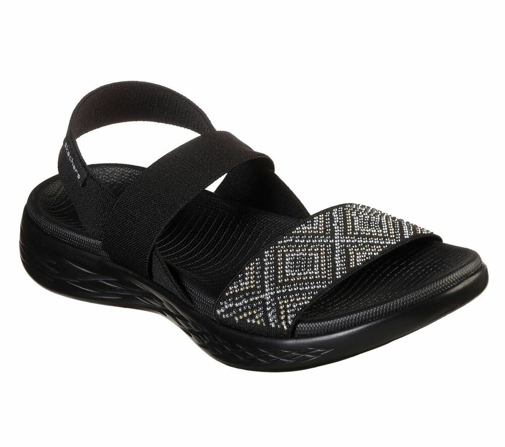 0618b3cc376e Details about Skechers Performance Women s On The GO 600 Glitzy Sandals