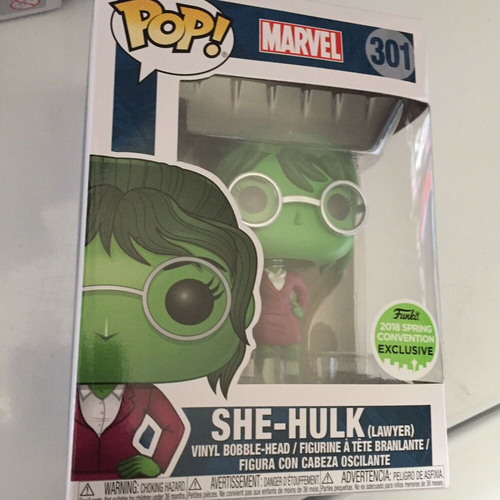 Marvel She Hulk 301 Funko Pop Lawyer Exclusive Vinyl Collectable Figure