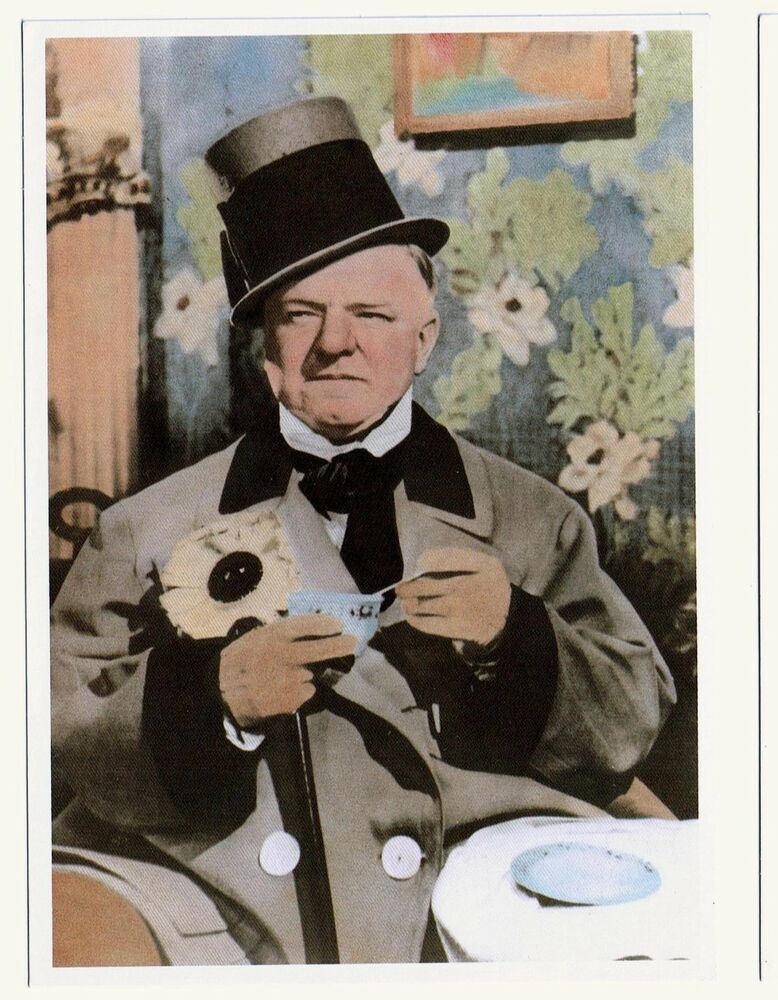 1ddb229a213 Details about W.C.Fields - Classic Colorized Photo - NEW  old stock  (postcard). Out of print