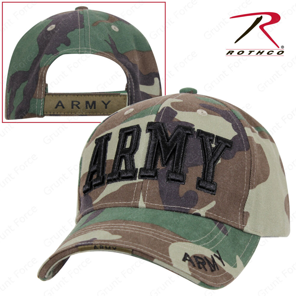 Details about Rothco Deluxe ARMY Embroidered Mid-Low Pro Adjustable Baseball  Cap Woodland Camo fedcd45a21b5