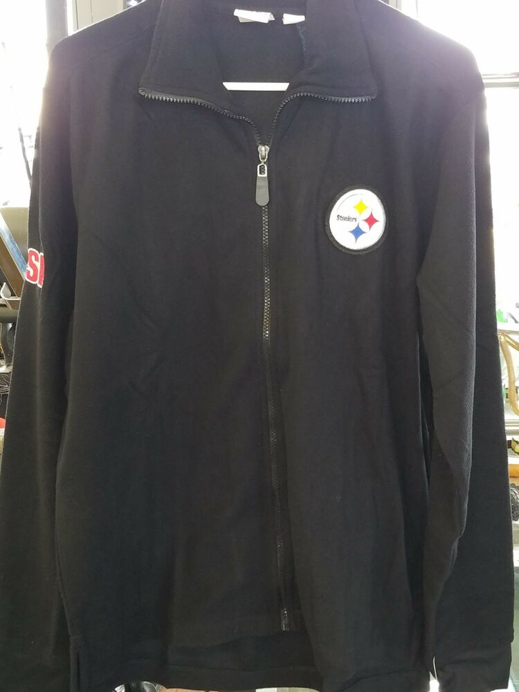 Details about NFL Sports Illustrated PITTSBURGH STEELERS ZIP FLEECE BLACK  JACKET XL NWT f48da0852ad05