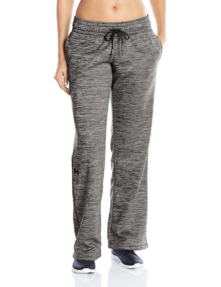 c22645cf543 Details about NEW WOMEN UNDER ARMOUR COLDGEAR BLACK STORM TWIST FLEECE  SWEATPANTS PANTS SZ SM