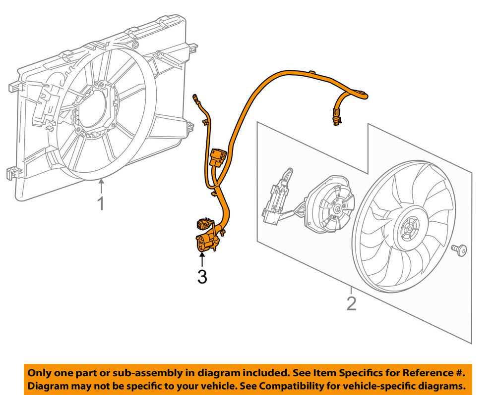 Astonishing Chevrolet Gm Oem 14 15 Cruze 2 0L L4 Engine Cooling Fan Wiring Wiring 101 Tzicihahutechinfo