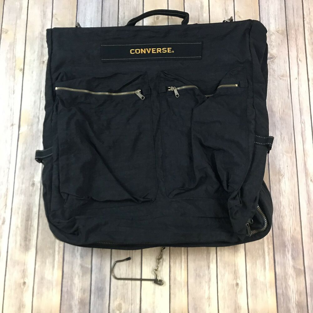 d0c910e12bac Details about Chuck Taylor Converse All Star Black Duffle Travel Athletic  Bag Pocketed Sharp!