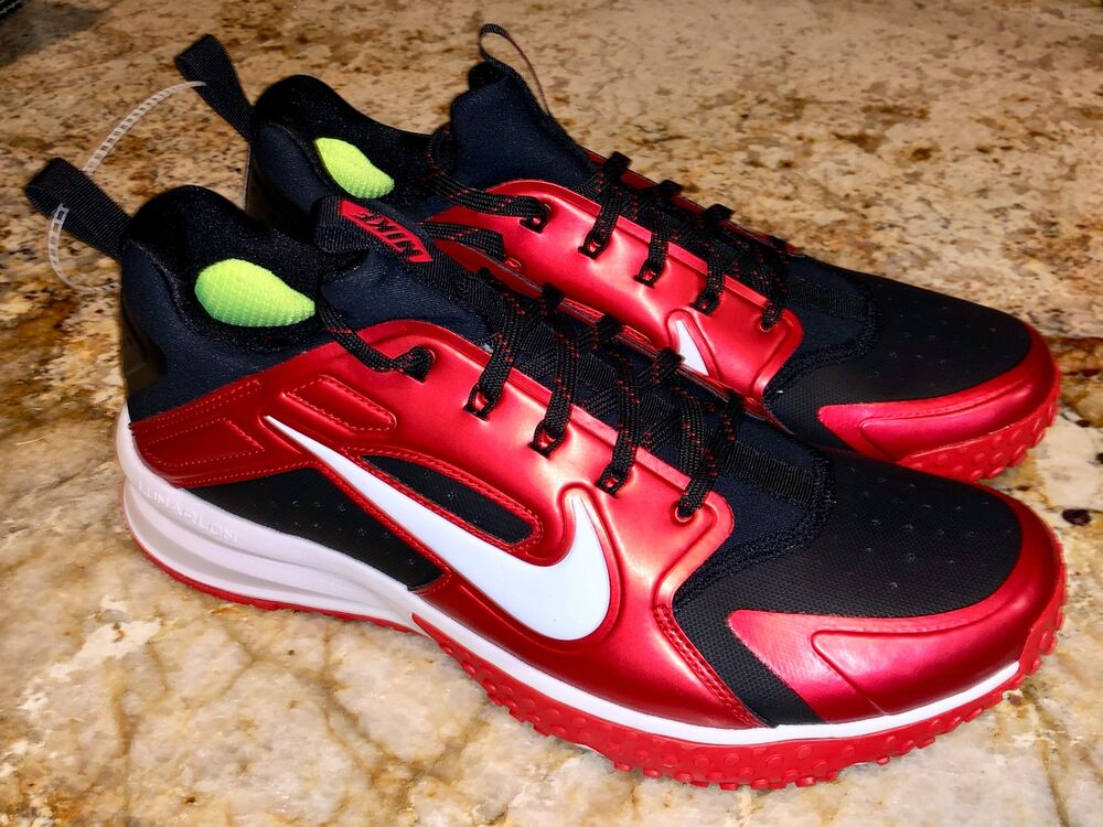 Details about NIKE Alpha Huarache Low Metallic Red Black Baseball Turf  Shoes Mens 8.5 10 11.5 87dc9a360