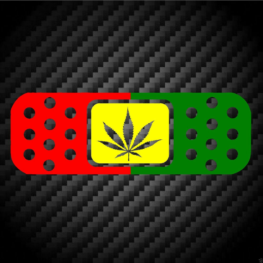 Details about bandaid rasta cannabis bob marley jdm car racing laptop ipad vinyl decal sticker