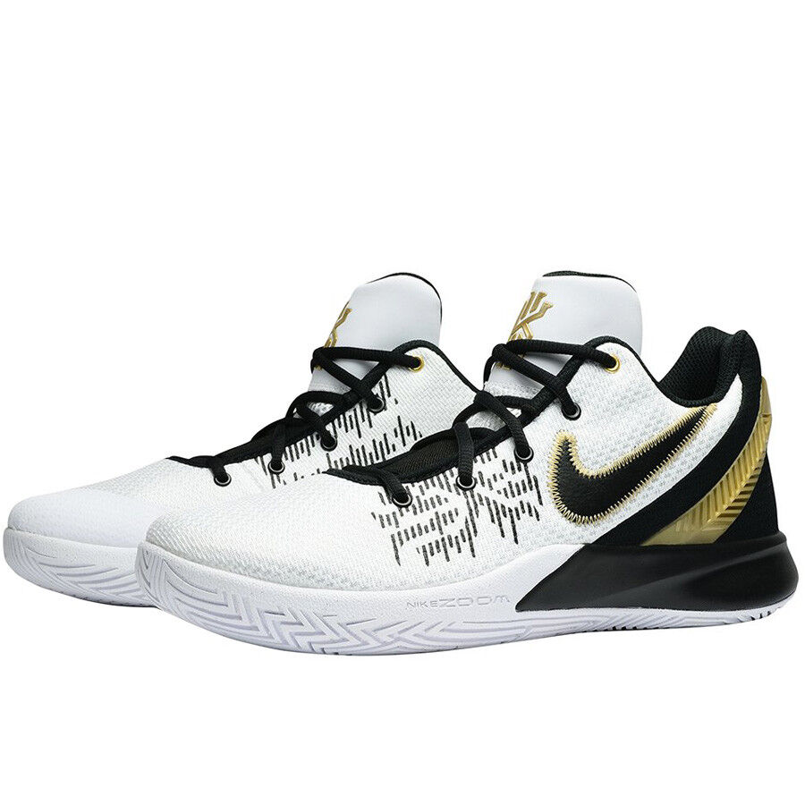 detailed look f739d da5fd Details about Men s Nike Kyrie Flytrap II White Metallic Gold Black Sizes  8-13 NIB AO4436-170