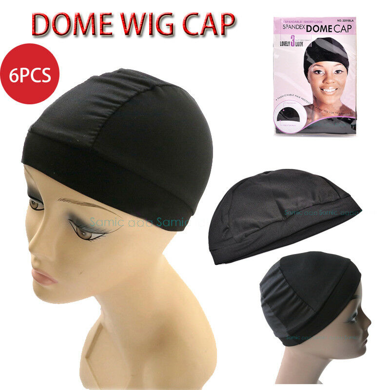 Details about 6pcs Spandex Dome Cap Hair Net Wig Liner Wig Caps For Making  Wigs Elastic Dome 6b8651b0e