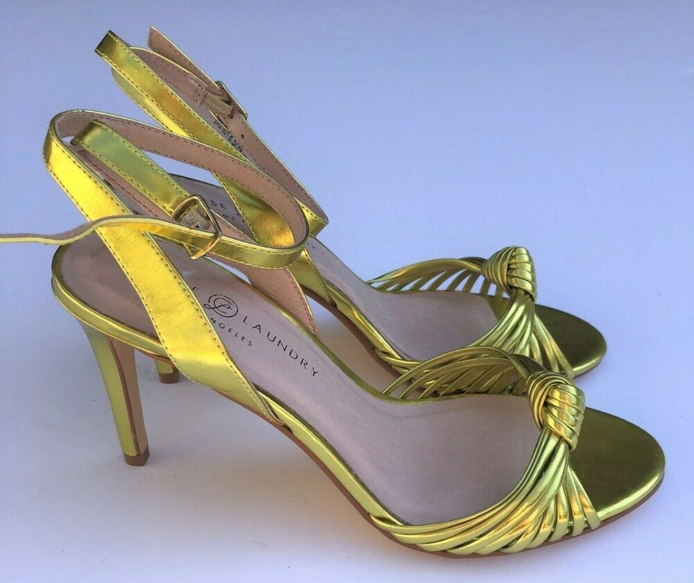 465958a709 Details about Chinese Laundry Womens Robbie Gold Dress Sandals 7.5 Medium  (B,M)