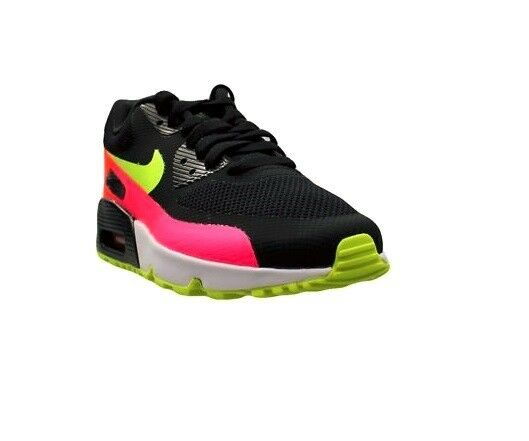 sports shoes df3b7 6a748 Details about Nike Air Max 90 PRM Ultra Essential White Black Gray Pink Red Women  Running Shoe