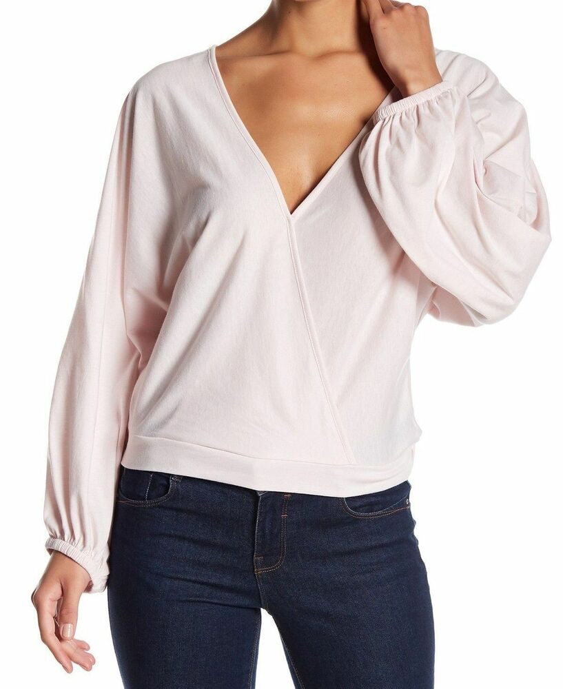 5aaf0a3903b2 Details about NEW $199 MELROSE AND MARKET WOMEN PINK DOLMAN-SLEEVE SURPLICE  BLOUSE TOP SIZE XS