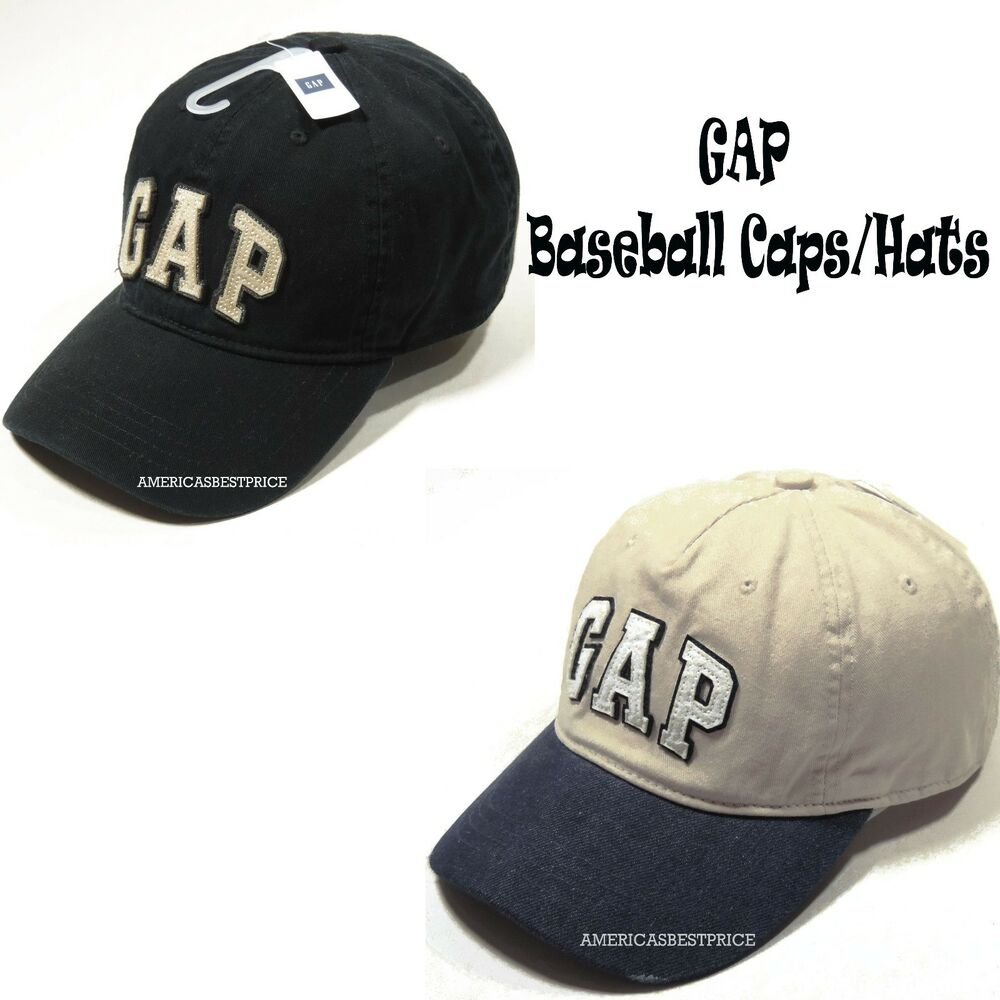 Details about GAP NEW MENS VINTAGE BASEBALL CAP NWT HAT BLACK  BEIGE BLUE 7b00a70bf34