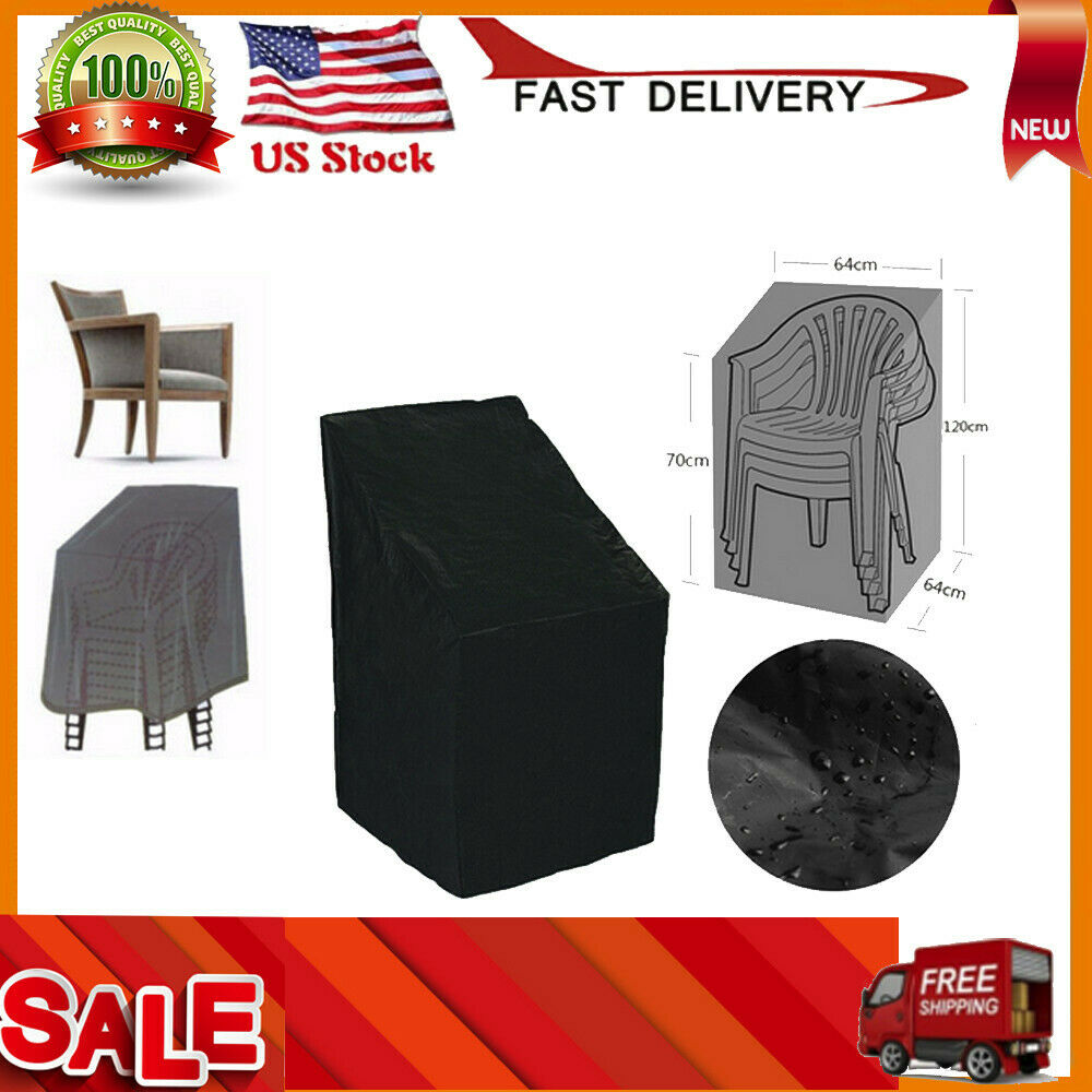 Details About Waterproof Outdoor Stacking Chair Cover Garden Parkland Patio Chairs Furniture