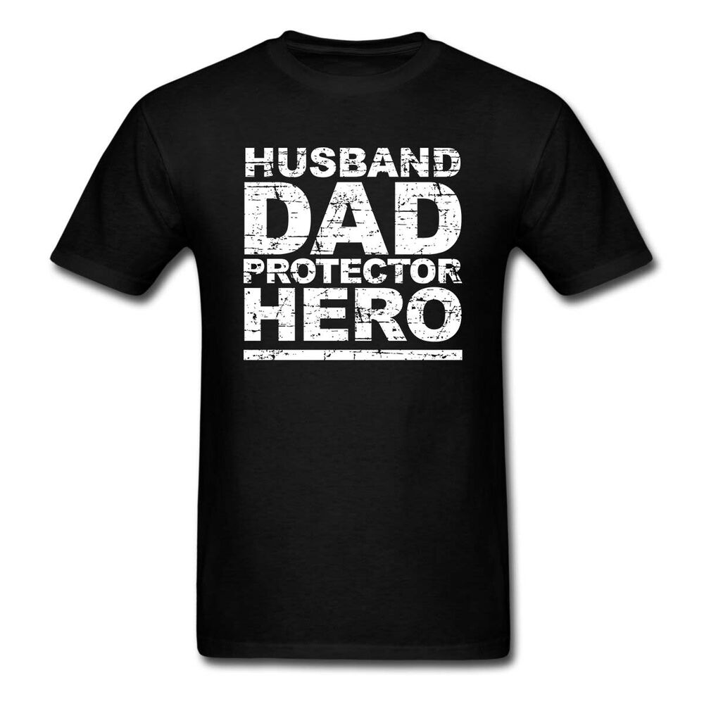 32c0c080e Details about Funny Husband Dad Protector Hero T Shirt Fathers Day Dad Daddy  Birthday Mens Tee