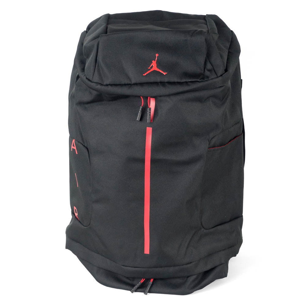 eff559792bc1 Details about Nike Air Jordan Velocity Backpack Black Red Basketball 13 11  12 Bred 9A0012-KR5