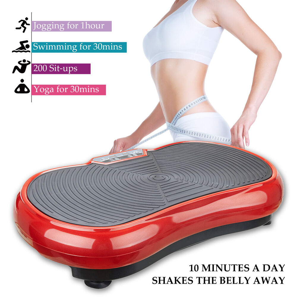 d3426ca0fd2ac Details about Vibration Machine Plate Platform Fitness Body Slim Shaper  Massager Red