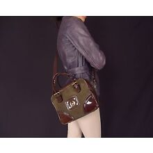 acabf43bdd2 Authentic Belstaff Small Square Patent Leather and Suede Purse Shoulder Bag  NWT