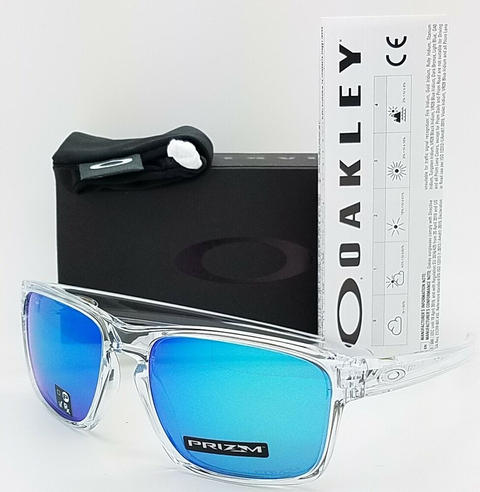 32a361ae80 Details about NEW Oakley Sliver sunglasses Clear Prizm Sapphire Iridium  9262-47 AUTHENTIC 9262