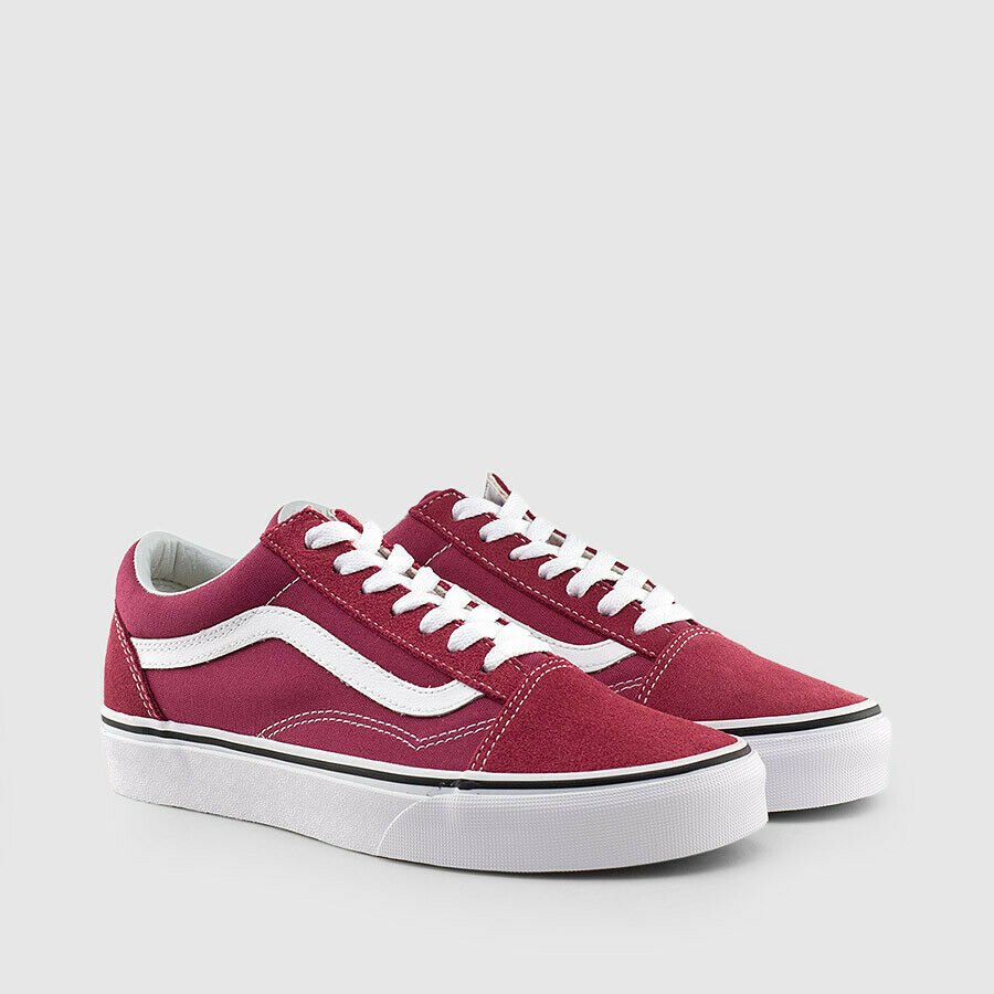 d2531afa36f Details about NEW Vans Authentic Old Skool Mens Size 11.5 Dry Rose True  White Burgundy Skate