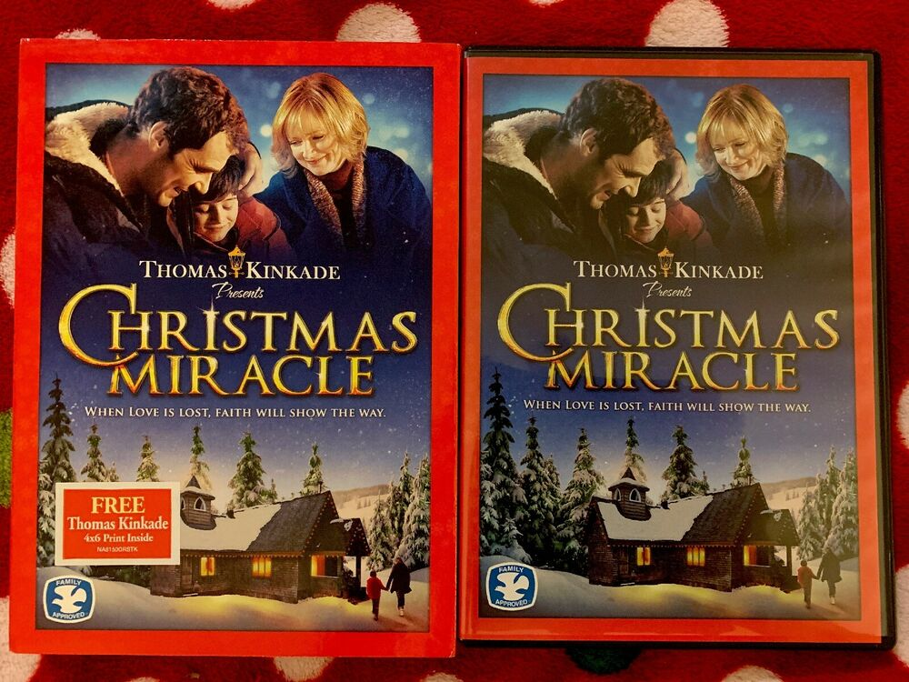 Thomas Kinkade Presents Christmas Miracle Dvd Family Approved Ebay