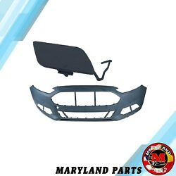 Kyпить Fit For Ford Fusion 13-16 Front Bumper Cover W/ tow hook cover DS7Z17D957AAPTM на еВаy.соm
