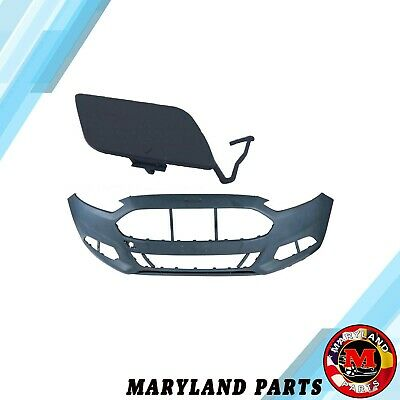 Fit For Ford Fusion 13-16 Front Bumper Cover W/ tow hook cover DS7Z17D957AAPTM