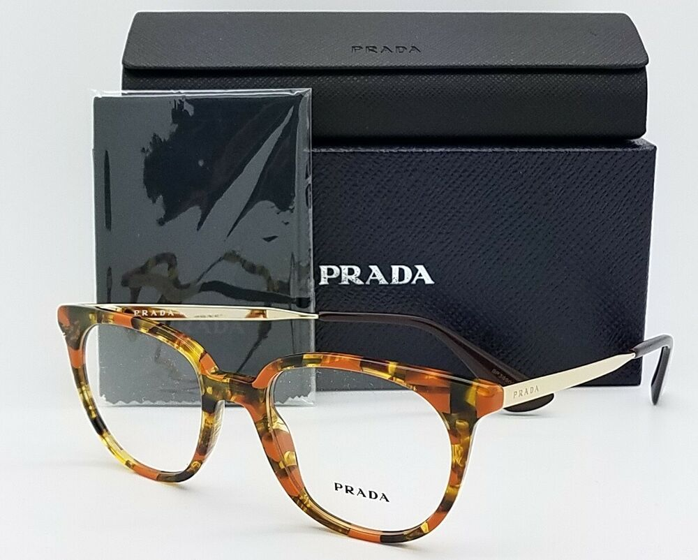 d02683feaad Details about NEW Prada RX Optics Prescription Glasses Tortoise PR 13UV  KJN101 48 AUTHENTIC