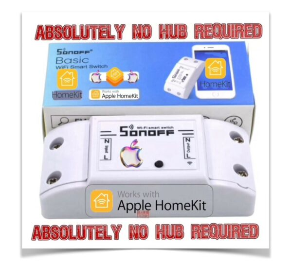 Sonoff Basic Flashed With Apple HomeKit Firmware