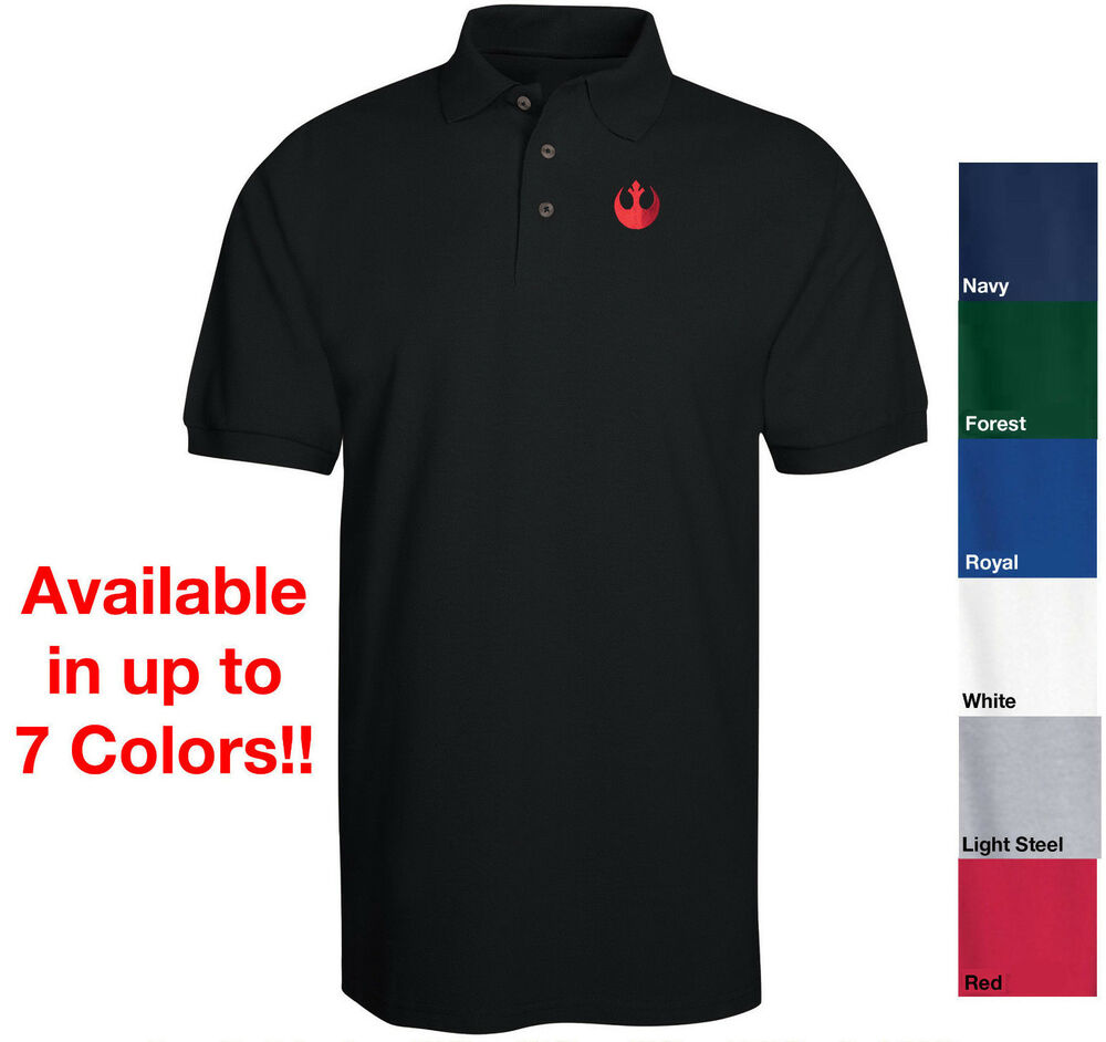 46707652458 Star Wars Rebel - Resistance Logo in RED Embroidered Polo Shirt 6 Colors  S-6XL | eBay