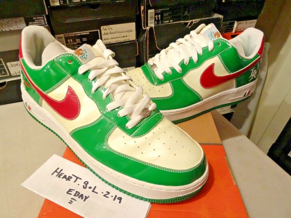 new product 6be21 c9394 Details about 2005 Nike Air Force 1 MR. CARTOON CINCO DE MAYO GREEN WHITE  RED 306146-131 SZ 13