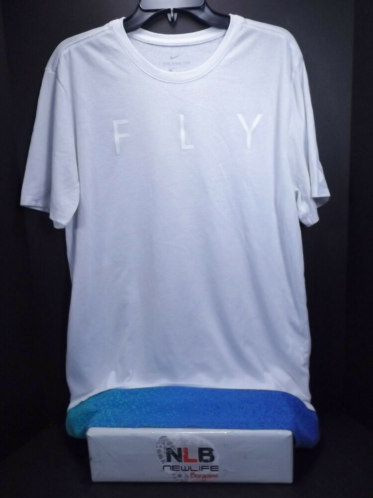 81ef73457ff2 Details about Nike Fly Dri-Fit Extended Athletic Cut T-Shirt Men Size Large