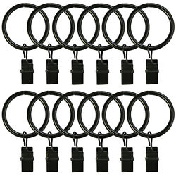 Curtain Rings w/ Clips Metal Curtain Clips Decoratice Drapery Rings 1.25'' Dia.
