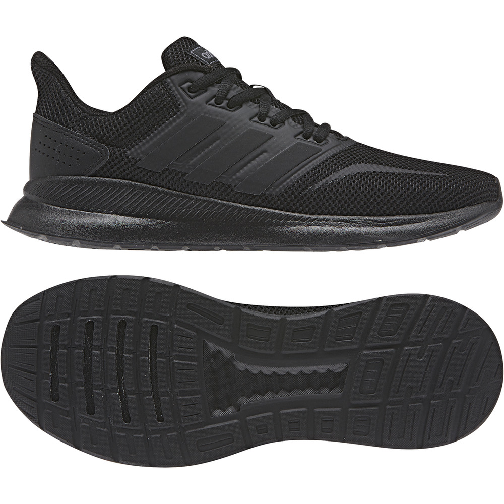 46a9dd4f80cbc Details about Adidas Women Running Shoes Runfalcon Training Sneakers  Fashion Black New F36216