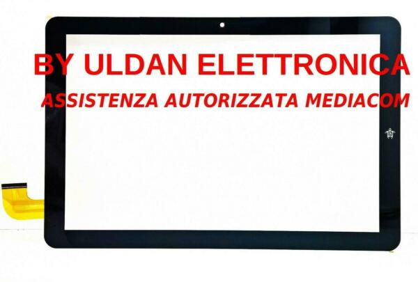 TOUCH SCREEN VETRO MEDIACOM SmartPad 10 Eclipse M-SP1AEC M-SP1BEC NERO ORIGINALE
