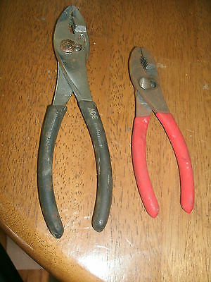 Lot of 2 Pair of Slip Joint Pliers - Ace Professional and Unbranded Pair