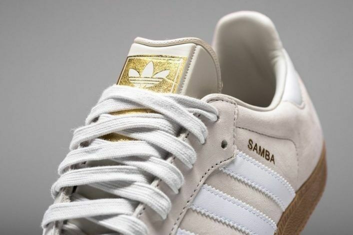 e00fc84d5511 Details about adidas Originals SAMBA Light Tan Grey Brown Cream GOLD Gum  Brown BZ0064 Sz 12