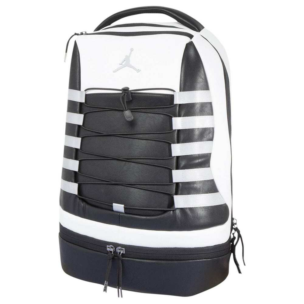 a9b5b17c8ebe44 Details about Nike Air Jordan Retro X 10 Backpack White Black Wolf Steel  Grey Cool Laptop Bag