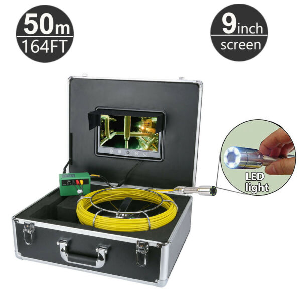 50M (164FT) Sewer Snake Camera Pipe Pipeline Drain Inspection System 9