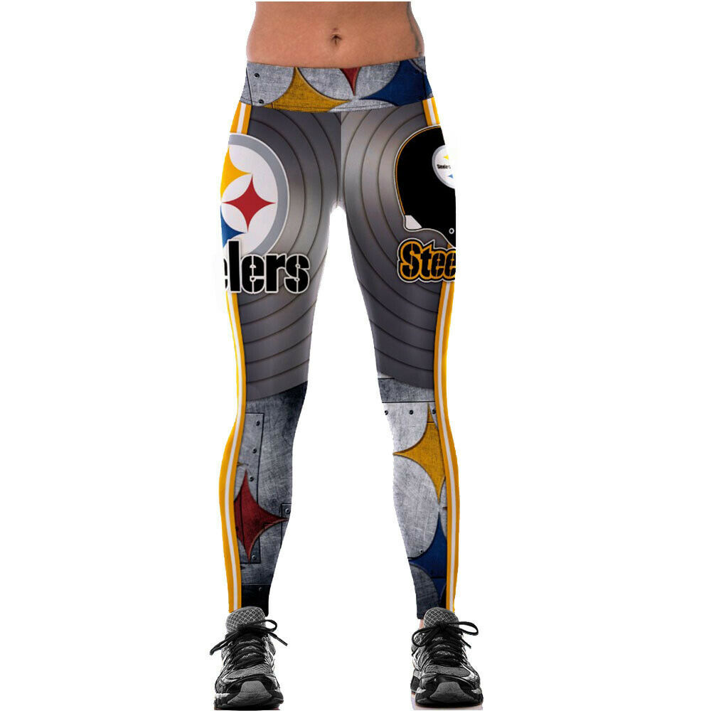 fab1e451cd3332 Details about Pittsburgh Steelers NFL Football Fans Women Squat Fitness  Leggings Jogging Pants