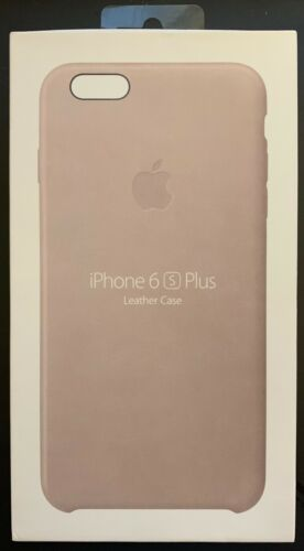 Apple iPhone 6s Plus Leather Case Rose Gray MKXE2ZM/A Great condition